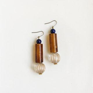 Fables natural stone antique resin earrings
