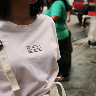 Native plan - embroidered T-shirt blouse (fried kway teow)
