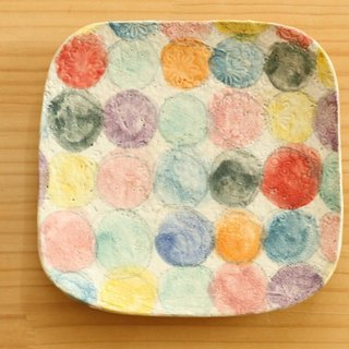 ※ Order Production Powder toy dish of colorful dot.