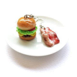 burger+Becon earring