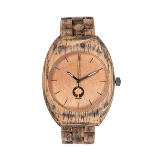 Plantwear – SMOOTH SERIES – BRUSHED OAK WOOD TIMBER WRIST WATCH