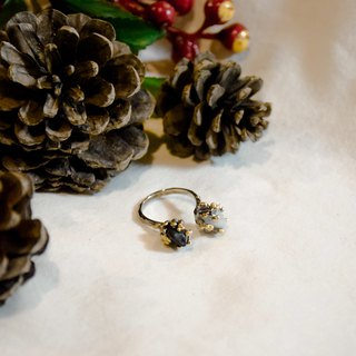 Double snowflake ring