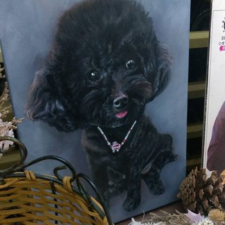 Custom pet oil portrait 4 size subscript office