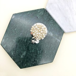 Elegant Japanese Style Pearl Brooch【silver brooch】【unique brooch】【Birthday Gift】