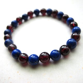 [Michel] Lapis Lazuli x Red Pomegranate - Handmade Natural Stone Series