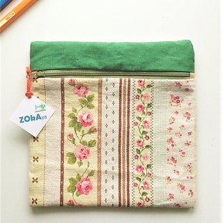 Square Pouch (Brown Country Floral)