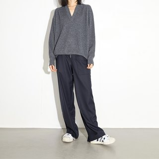 GAOGUO originality brand gray both sides to wear Cashmere sweater
