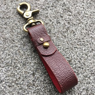 Hin window leather art - handmade leather - key ring hand-made vegetable tanned chrome tanned customized custom Wen-ching