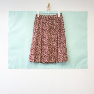 ... {Acorn girls :: vintage skirt half dark red floral half-length skirt