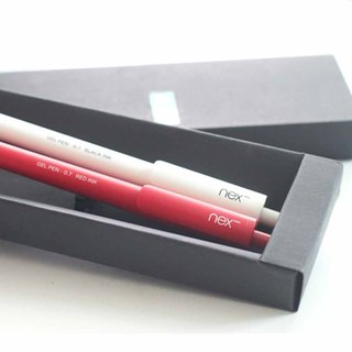 Gift gift red and white on the pen group containing the package style optional pen gift box PREMEC Swiss pen red and white plastic pen on the pen gift box to make gifts more fun ~