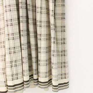 Vintage Elegant Plaid Beige Long Sleeve Vintage Dress Vintage Dress