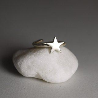 Star Day - Adjustable Ring - Sterling Silver - Open Ring