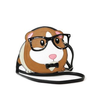Sleepyville Critters - Nerdy Guinea Pig Shoulder Crossbody Bag