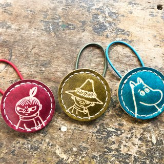 #成品制作手工染MOOMIN x Hong Kong-made leather Mummin series hair accessories officially authorized