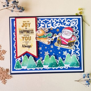 Christmas stamp transparent stamp set