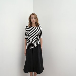 Black and white stripes. Elastic body suit. Spring and Summer | Ysanne