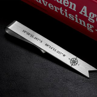Coordinates Bookmark - Personalized Bookmark engraved with your text
