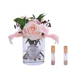 CoteNoire Fragrance Flower - Pink Lily Rose Fragrance Flower
