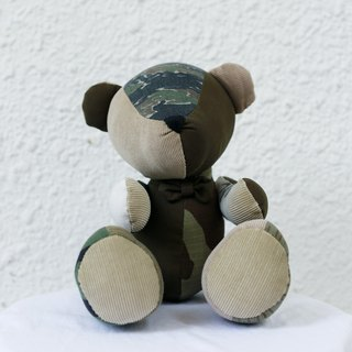 camouflage patchwork bear
