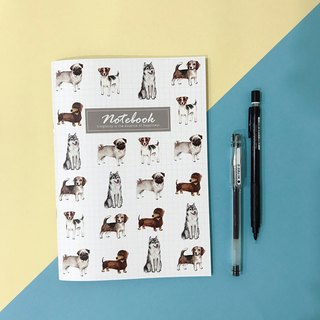 Pet watercolor square / square eye notebook Jack Russell Chico dog dachshund dog MiGlu