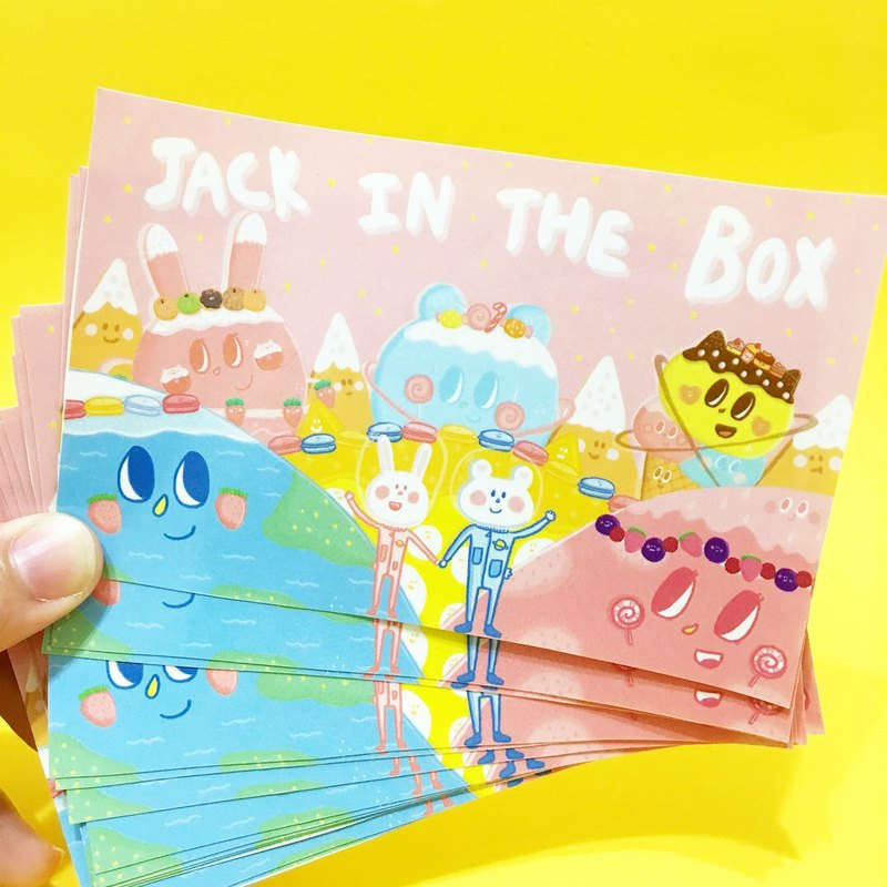 Jack in the box Dessert Cosmic single big sticker