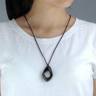 Wooden Möbiusband necklace Wood Pendant