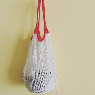 Mesh Woven Market Grocery Bag (How White)