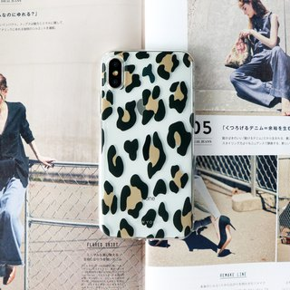 French leopard transparent mobile phone case
