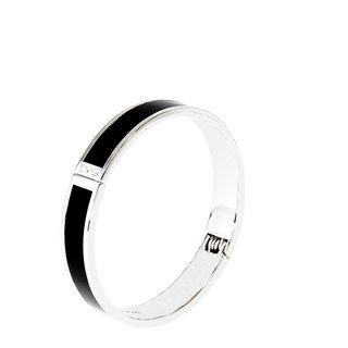 Solid black Cloisonne series solid color bracelet (silver) -01,000,159,001