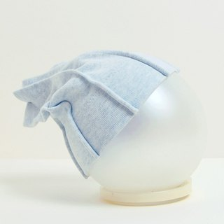 Brushed Knit Baby Hat - Light Blue