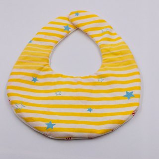 Star stripe bib double yarn saliva towel