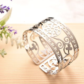 Traditional Series- Mehndi , Secret Garden Bracelet(Silver)