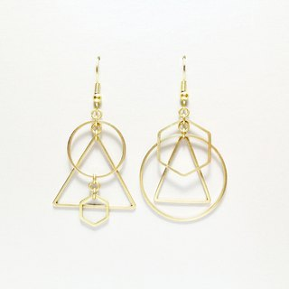 Fusion Fusion - Geometric Brass Earrings