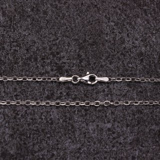 925 sterling silver necklace single chain sweater chain 24 inches