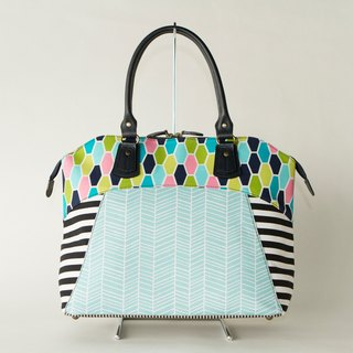 dots/borders/stripes/boston bag Road Movie Classic (Blue)