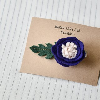 Indigo flower hairpin