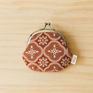 "2.6"" Clasp Frame Bag/Begonia Glass Pattern/Lady Rouge"