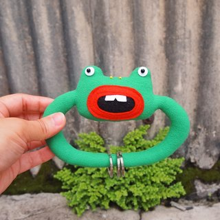 Animal pull ring key ring - mouth frog stay