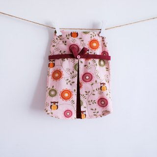 Can be customized. Cute pink owl dress pet clothing