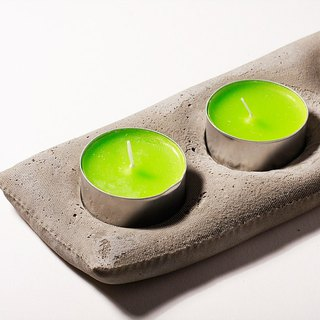 FabriConcrete Tri Candle Holder