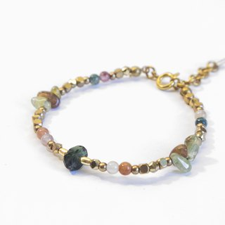 Find it / Forest Tunnel - Tourmaline Peridot Brass Bracelet