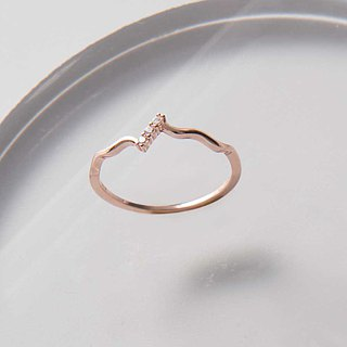 Shining Heart Sterling Silver Ring - Sterling Silver / Rose Gold / 18K Gold