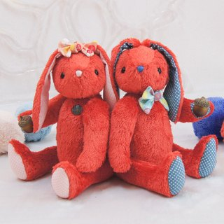Rabbit Hixi rabbit cool red 24cm custom color and embroidered word finished