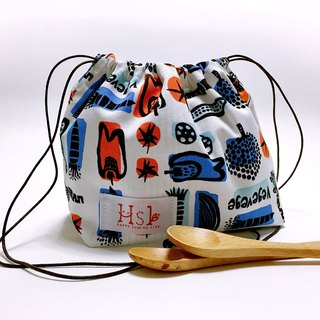 【DIY material package】 teaching kit Lunch box bag rope bag Drawstring Shouwan Dai pocket hand-sewn making fresh fruits and vegetables section