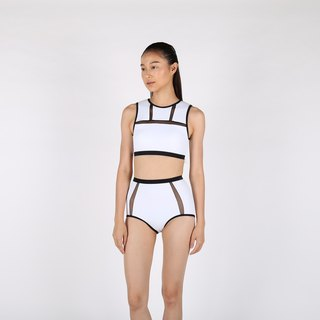 Mesh Tank set - White / swimwear / S