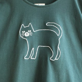 krajok cat t-shirt : green