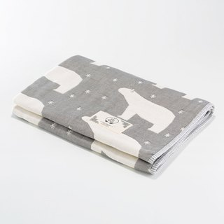 Pre-order [Mr. Sanhe Kapok] six-gauze gauze thick section - Guardian Star Polar Bear (Gray) S
