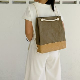 Washed kraft paper dual-use bag back / oblique back