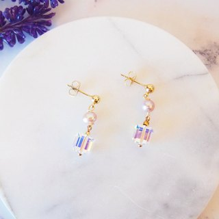 Anniewhere | Classic | Swarovski Crystal Pearl Earrings
