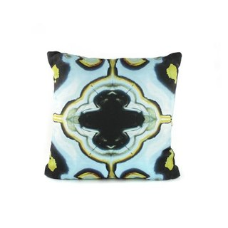 HARD SWIRLS BLUE PILLOW COVER